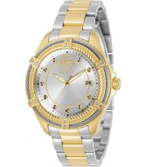 reloj invicta acero, oro modelo 308ia para dama, colección bolt