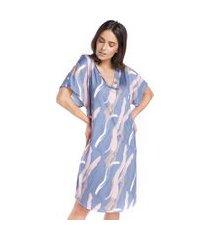 camisão feminino manga curta watercolor
