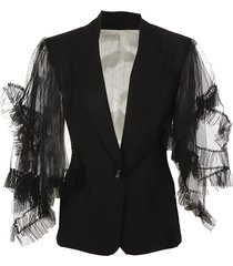 jacket with tulle sleeves