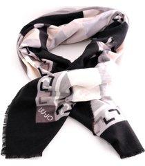 foulard liu jo logo 369085 t0300 nero