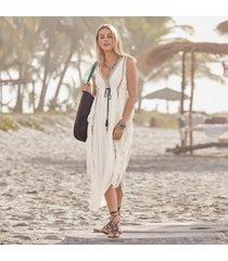 sundance catalog women's baba dress in off white xs