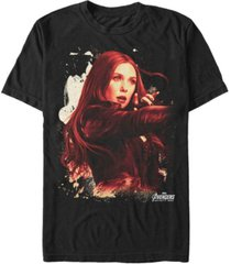 marvel men's avengers infinity war painted splatter the scarlet witch short sleeve t-shirt