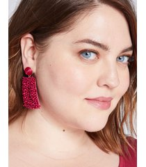 lane bryant women's beaded square drop earrings onesz sangria