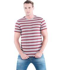 camiseta slim rayas gris jaspe medio