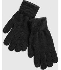 guantes full hombre negro gap