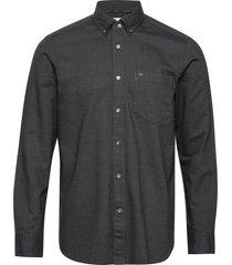 button down brushed twill shirt overhemd business grijs calvin klein