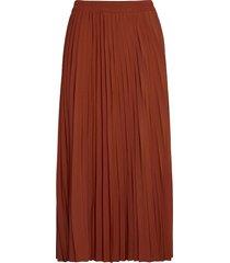 slfalexis mw midi skirt b noos knälång kjol röd selected femme