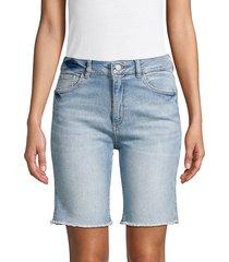 dl1961 premium denim women's jerry denim bermuda shorts - wayne - size 24 (0)