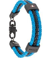 bally phelsy braided bracelet - blue