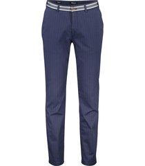 gardeur pantalon sonny-9 slim fit donkerblauw