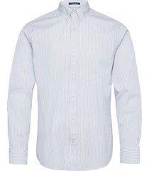 d1. ppo stripe reg bd overhemd casual wit gant