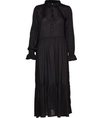 kathea midi dress knälång klänning svart kaffe