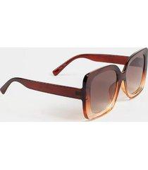 amora oversized square sunglasses - brown