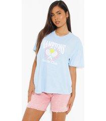 oversized overdye hamptons t-shirt, light blue