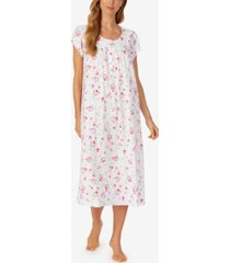 eileen west floral-print jersey cotton ballet nightgown