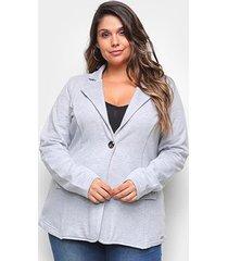 blazer maelle plus size feminino - feminino