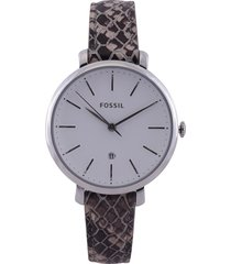 reloj café-negro-beige fossil