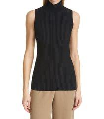 women's proenza schouler cutout back ribbed sleeveless turtleneck sweater, size small - black