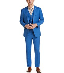 paisley & gray slim fit suit separates jacket french blue