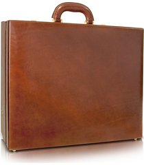 chiarugi designer travel bags, men's handmade brown leather attache briefcase