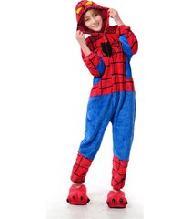 unisex kigurumi pajamas adult anime cosplay costume onesie dress spider-man !
