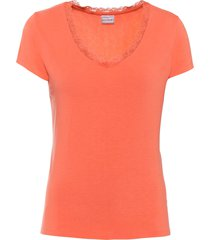 maglia con pizzo (arancione) - bodyflirt