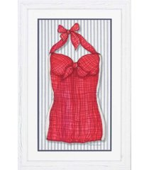 "paragon vintage-like swimsuit 3 framed wall art, 45"" x 29"""