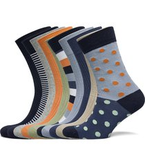 linden 10-pack classic sock - gots/ underwear socks regular socks multi/mönstrad knowledge cotton apparel