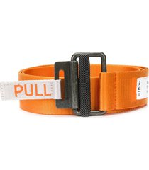 heron preston jacquard tape belt - orange