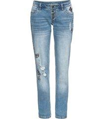 jeans boyfriend con applicazioni (blu) - rainbow