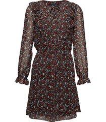 eden georgette long sleeve dress kort klänning röd french connection