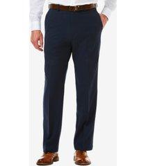 men's haggar cool 18 pro classic-fit expandable waist flat front stretch dress pants