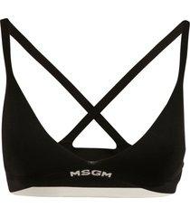 msgm logo bottom bra