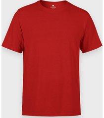 męska koszulka (bez nadruku, gładka) - czerwona