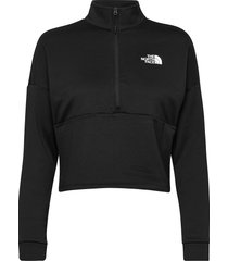w at 1/4 zip sweat-shirts & hoodies fleeces & midlayers svart the north face