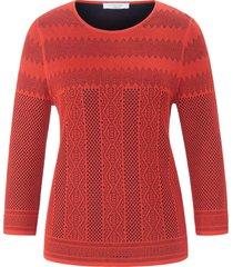 trui met ronde hals en 3/4-mouwen van mayfair by peter hahn rood