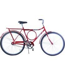 bicicleta dalannio bike aro 26 masculina barra circular freio no pé potenza vermelha