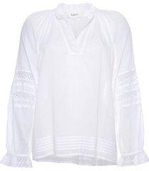 ba&sh stella blanc blouse wit beige