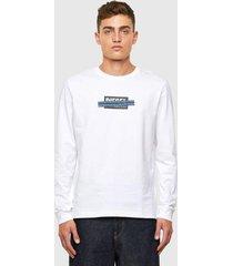 polera t just ls x41 t shirt 100 blanco diesel