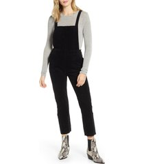 women's ag isabelle corduroy overalls, size x-large - black