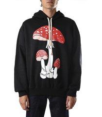 j.w. anderson cotton sweatshirt with mushroom print