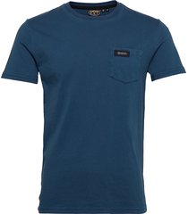 dry goods pocket tee t-shirts short-sleeved blå superdry