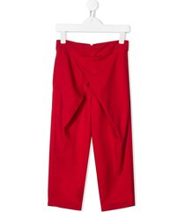 raspberry plum genevive trousers - red