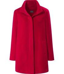 jas met staande kraag en blinde knoopsluiting van basler rood