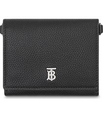 burberry small strap wallet - black