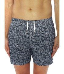 bertigo men's floral swim shorts - blue - size l