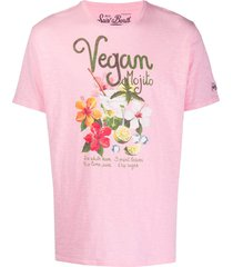 mc2 saint barth vegan mojito print t-shirt - pink