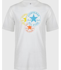 polera converse  trinity chuck patch cotton jersey graphic t-shirt blanco - calce regular