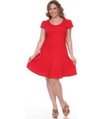 white mark women's plus size cara dress