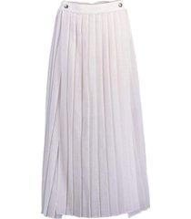 gauze pleated slit skirt